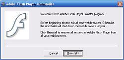 Adobe Flash Player Uninstaller 13.0.0.182