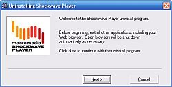 Adobe Shockwave Player Uninstaller 11.6.7.637