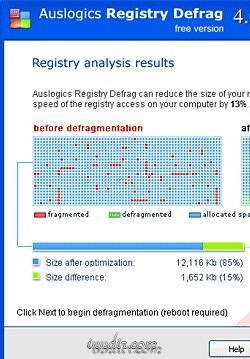 Auslogics Registry Defrag 6.0.3.30