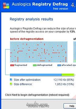 Auslogics Registry Defrag 6.0.5.50