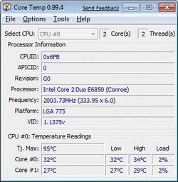 Core Temp 0.99.7