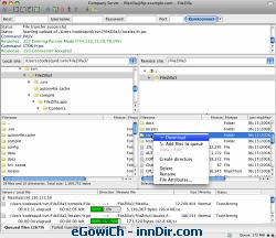 FileZilla (Macintosh) 3.1.1 RC1