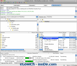 FileZilla (Macintosh) 3.1.2 RC1