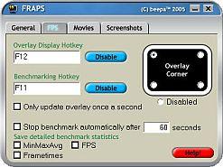 Fraps (2000/2003/XP/Vista/7 İçin) 3.2.7