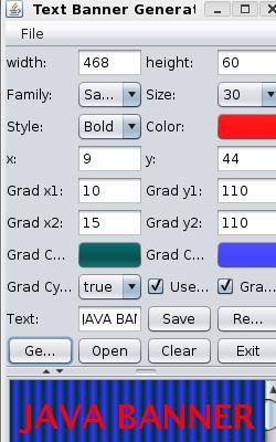 Free Java Text Banner Generator 1.0
