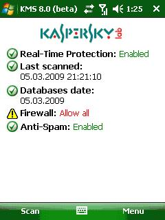 Kaspersky Mobile Security  9.0.52