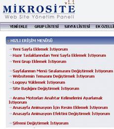 Mikrosite - Website Yönetim Paneli 1.1