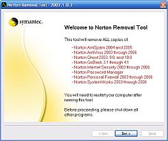 Norton Removal Tool 2009.0.5.40