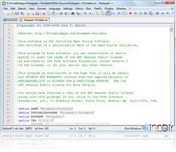 Notepad++ Portable 5.8.4