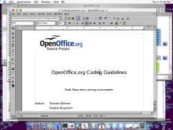 Open Office (Mac) 3.3.0