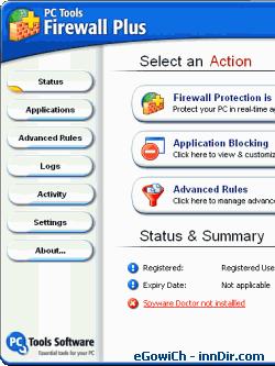 PC Tools Firewall Plus 4.0.0.35