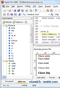 Rapid CSS 2011 11.2.2.131