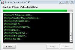 Remove Fake Antivirus 1.85