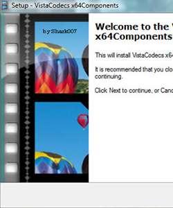 VistaCodecs x64Components 2.2.7
