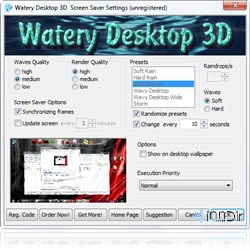 Watery Desktop 3D 3.34