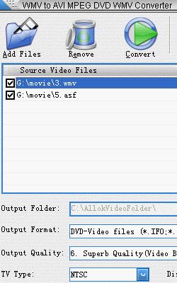 WMV to AVI MPEG DVD WMV Converter 4.6.05.29
