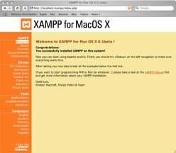 XAMPP (Mac OS X) 1.7.2a