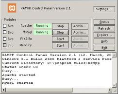 XAMPP (Windows) 1.7.2